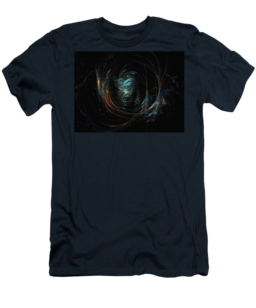 Abstract Digital Painting Men's T-Shirt (Athletic Fit) featuring the digital art Synapse by David Lane