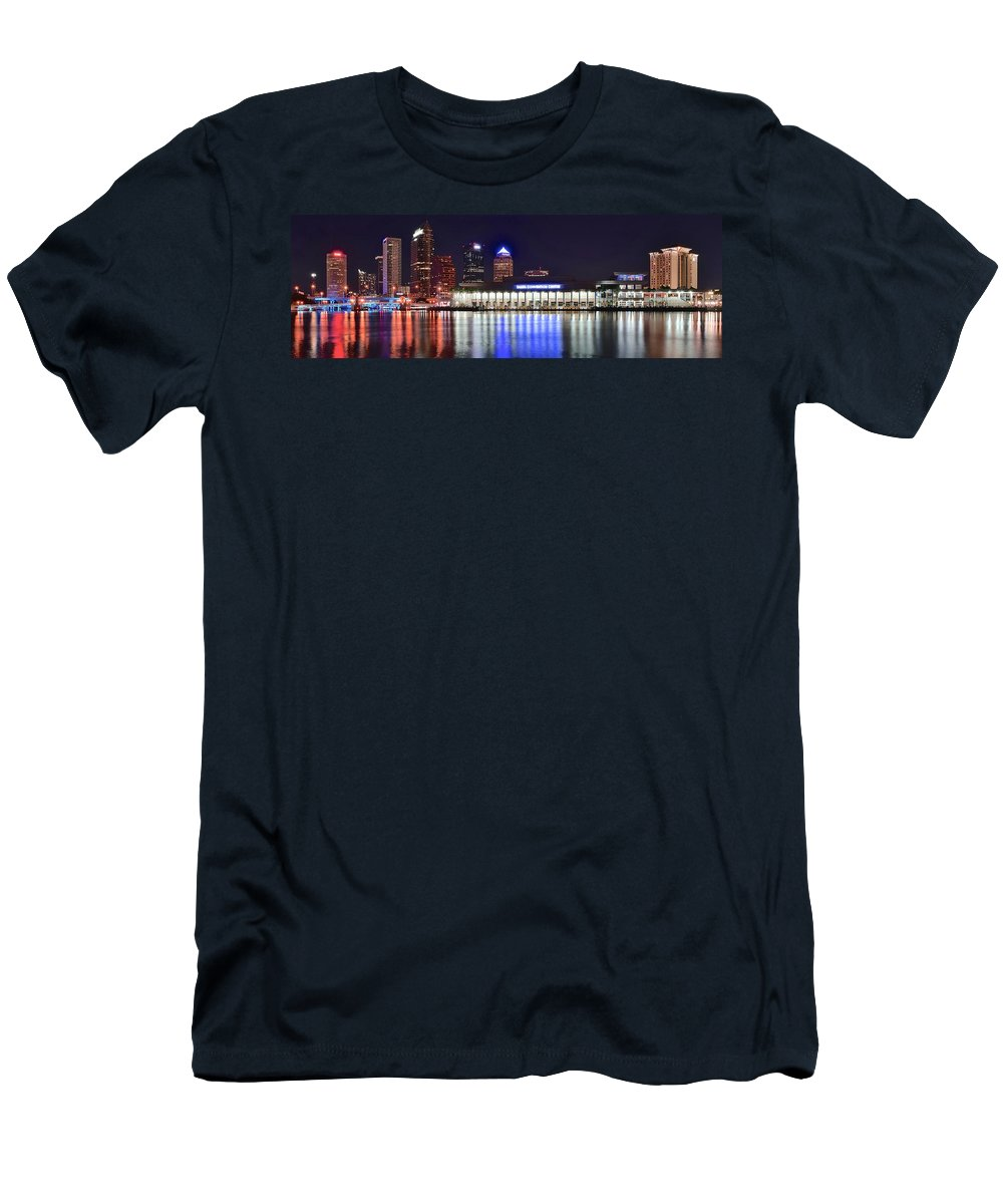 Tampa T-Shirt featuring the photograph Tampa Bay Panorama by Frozen in Time Fine Art Photography