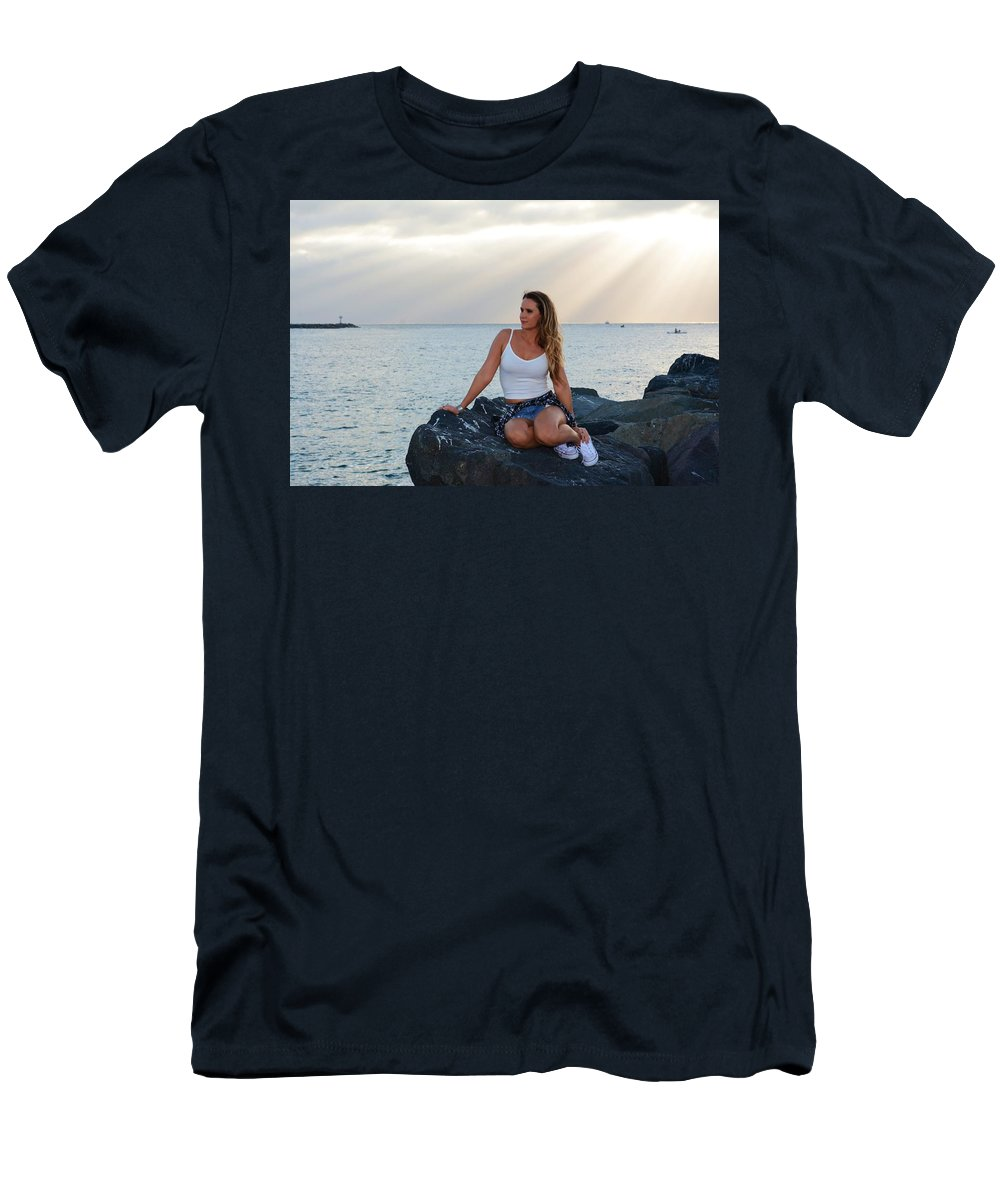 Fashion Men's T-Shirt (Athletic Fit) featuring the photograph Taylor 025 by Remegio Dalisay