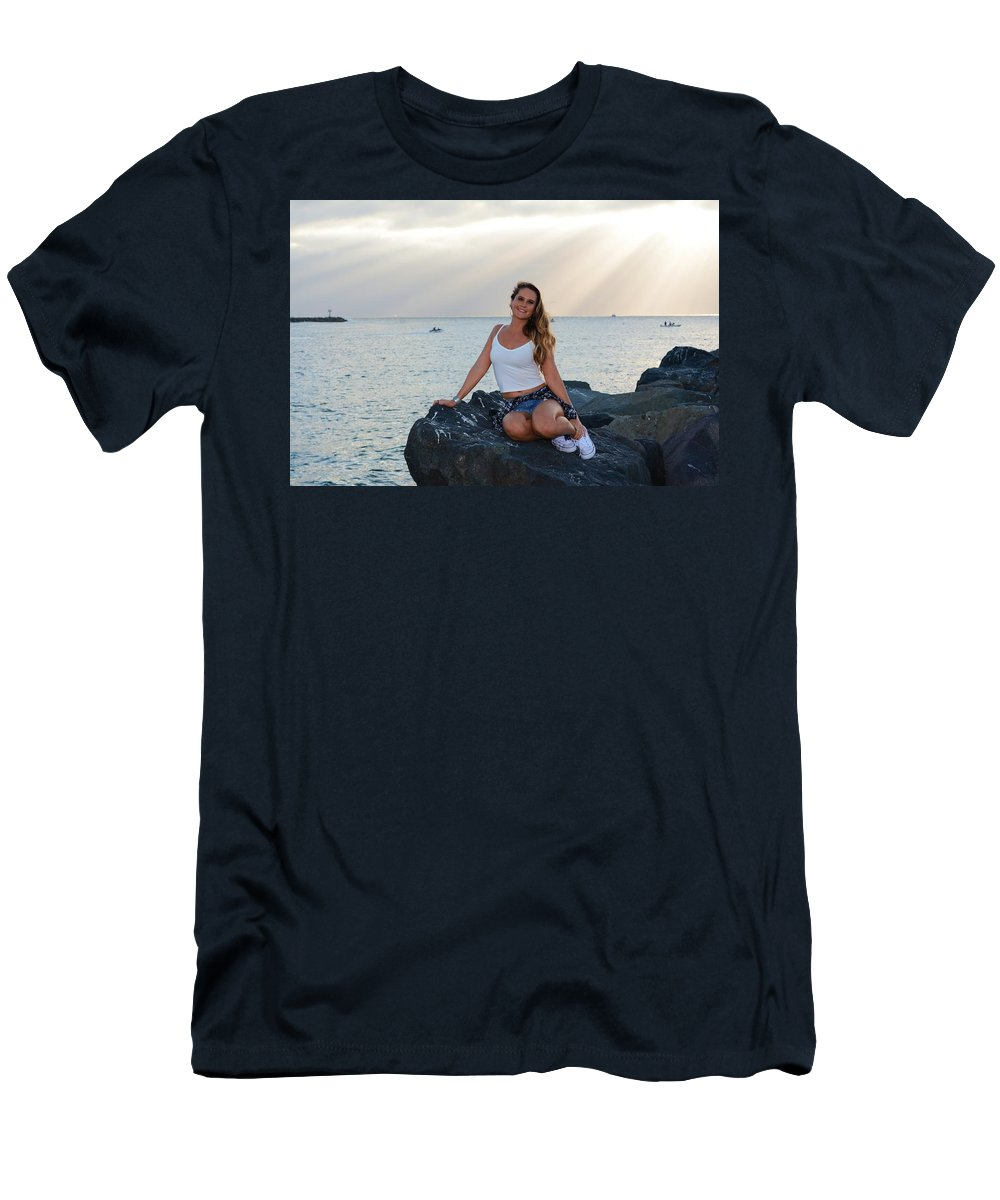 Fashion Men's T-Shirt (Athletic Fit) featuring the photograph Taylor 026 by Remegio Dalisay