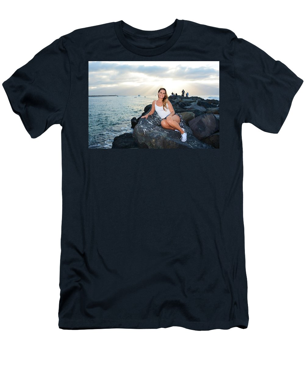Fashion Men's T-Shirt (Athletic Fit) featuring the photograph Taylor 033 by Remegio Dalisay