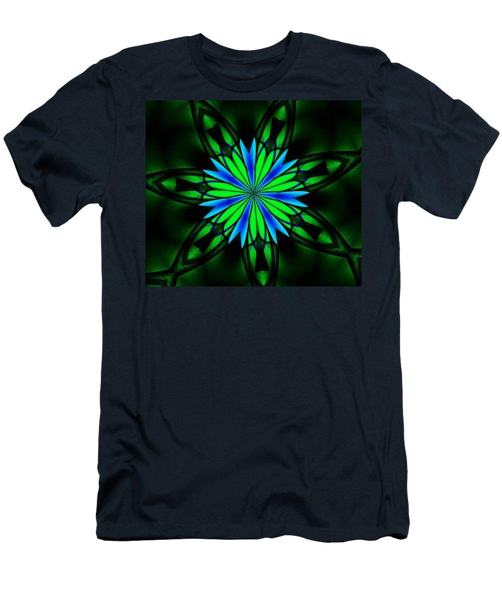 Fine Art Men's T-Shirt (Athletic Fit) featuring the digital art Ten Minute Art 082610-4 by David Lane