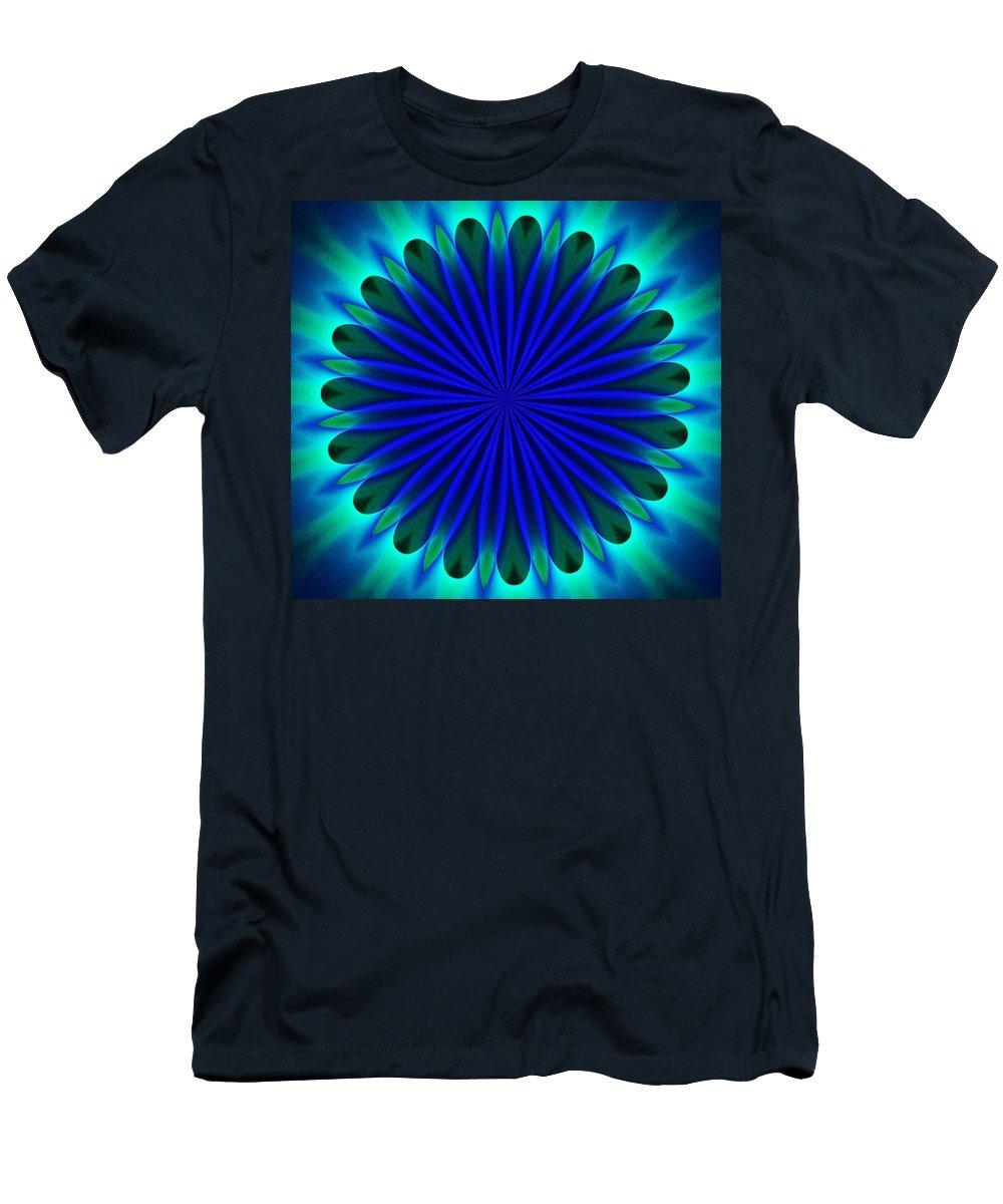 Fine Art Men's T-Shirt (Athletic Fit) featuring the digital art ten minute art 102610B by David Lane