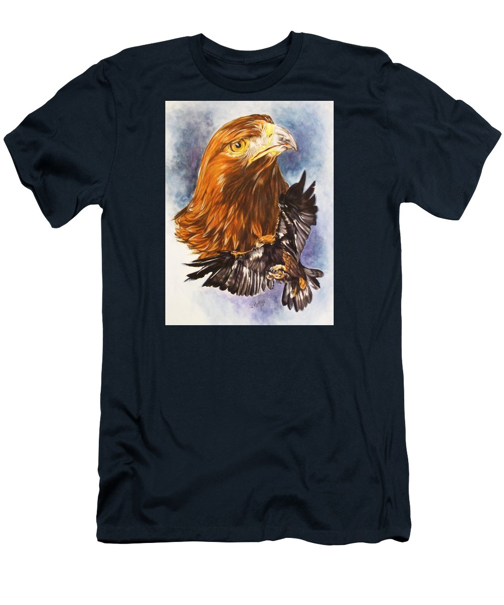 Eagle Men's T-Shirt (Athletic Fit) featuring the mixed media Tenacity by Barbara Keith
