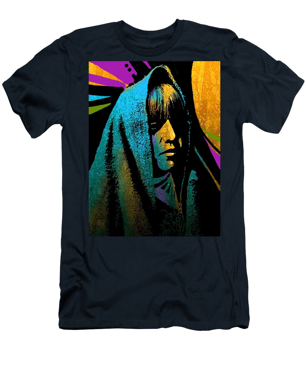 Native Americans Men's T-Shirt (Athletic Fit) featuring the painting Tewa Girl by Paul Sachtleben