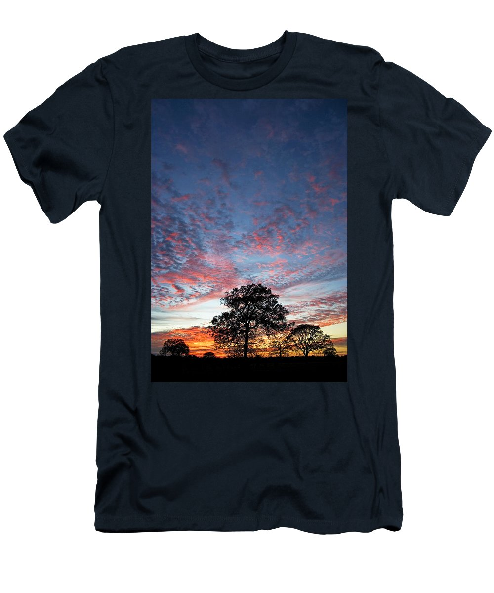 Tree Men's T-Shirt (Athletic Fit) featuring the photograph Texas Sunset by Skip Hunt