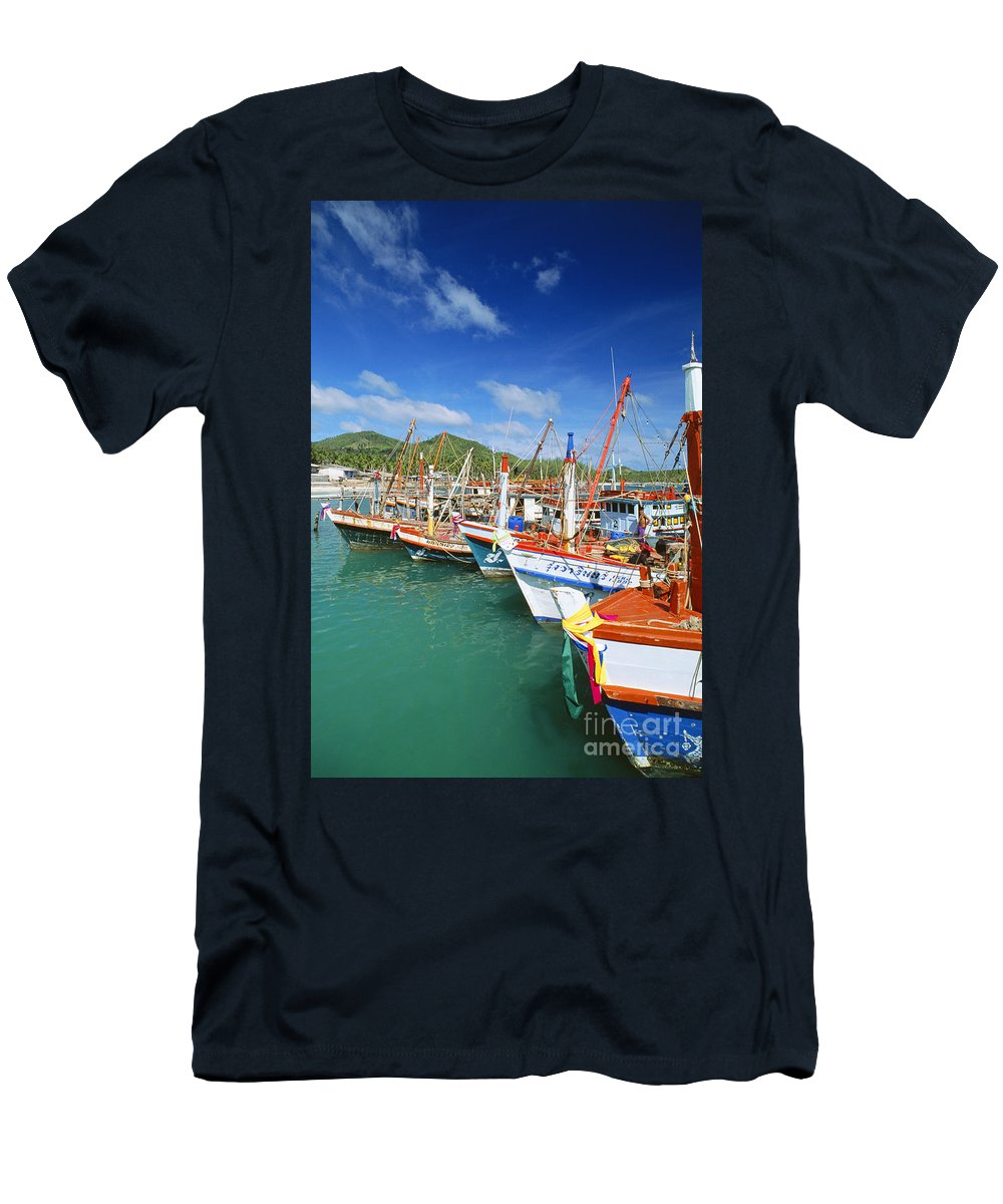 Blue Men's T-Shirt (Athletic Fit) featuring the photograph Thailand, Koh Phangan by William Waterfall - Printscapes