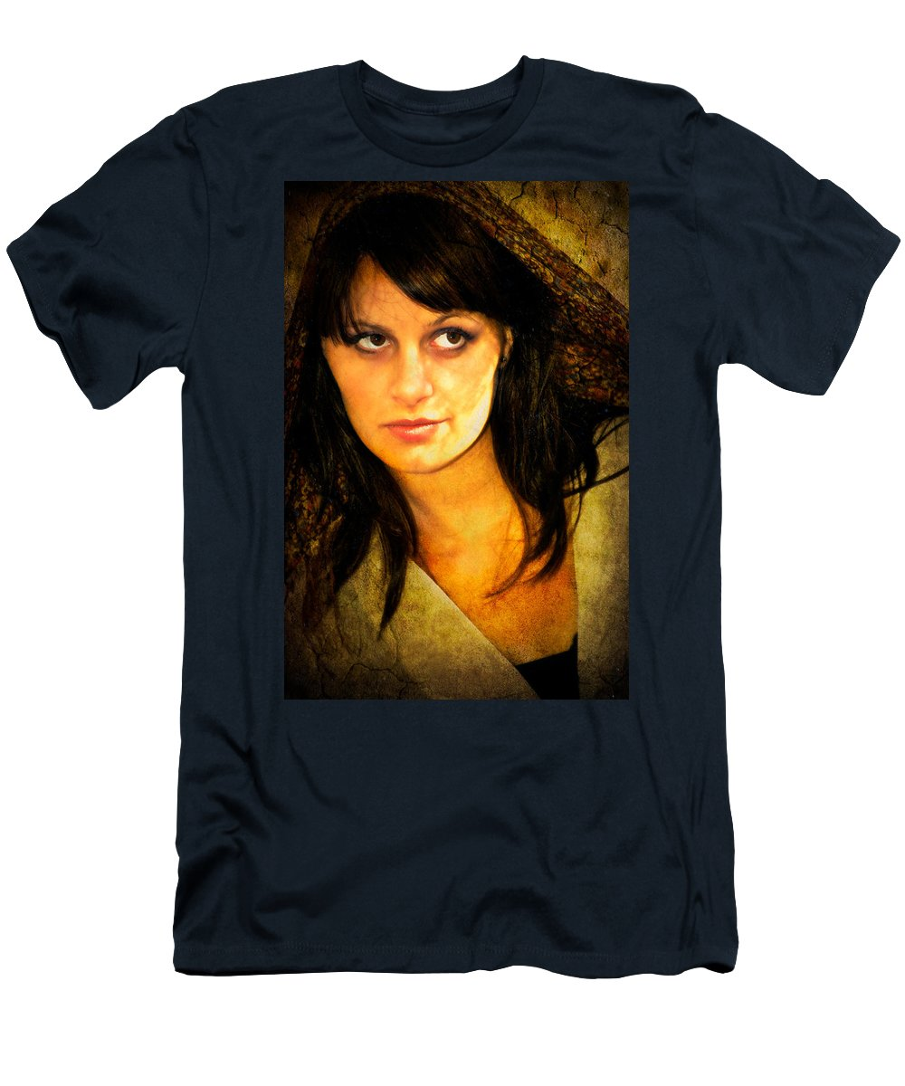 Woman Men's T-Shirt (Athletic Fit) featuring the photograph That Look by Rich Leighton