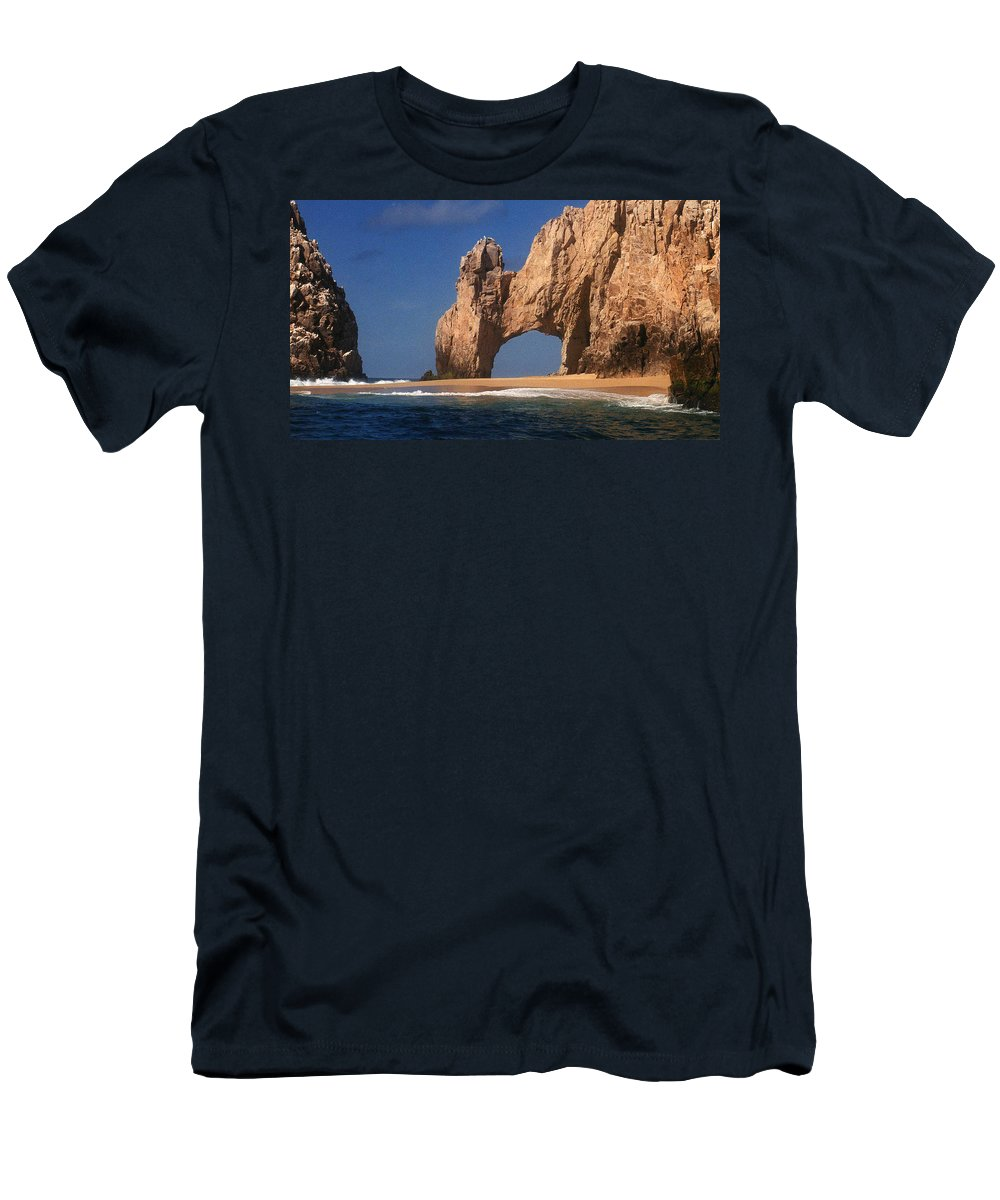 Arch Men's T-Shirt (Athletic Fit) featuring the photograph The Arch by Marna Edwards Flavell