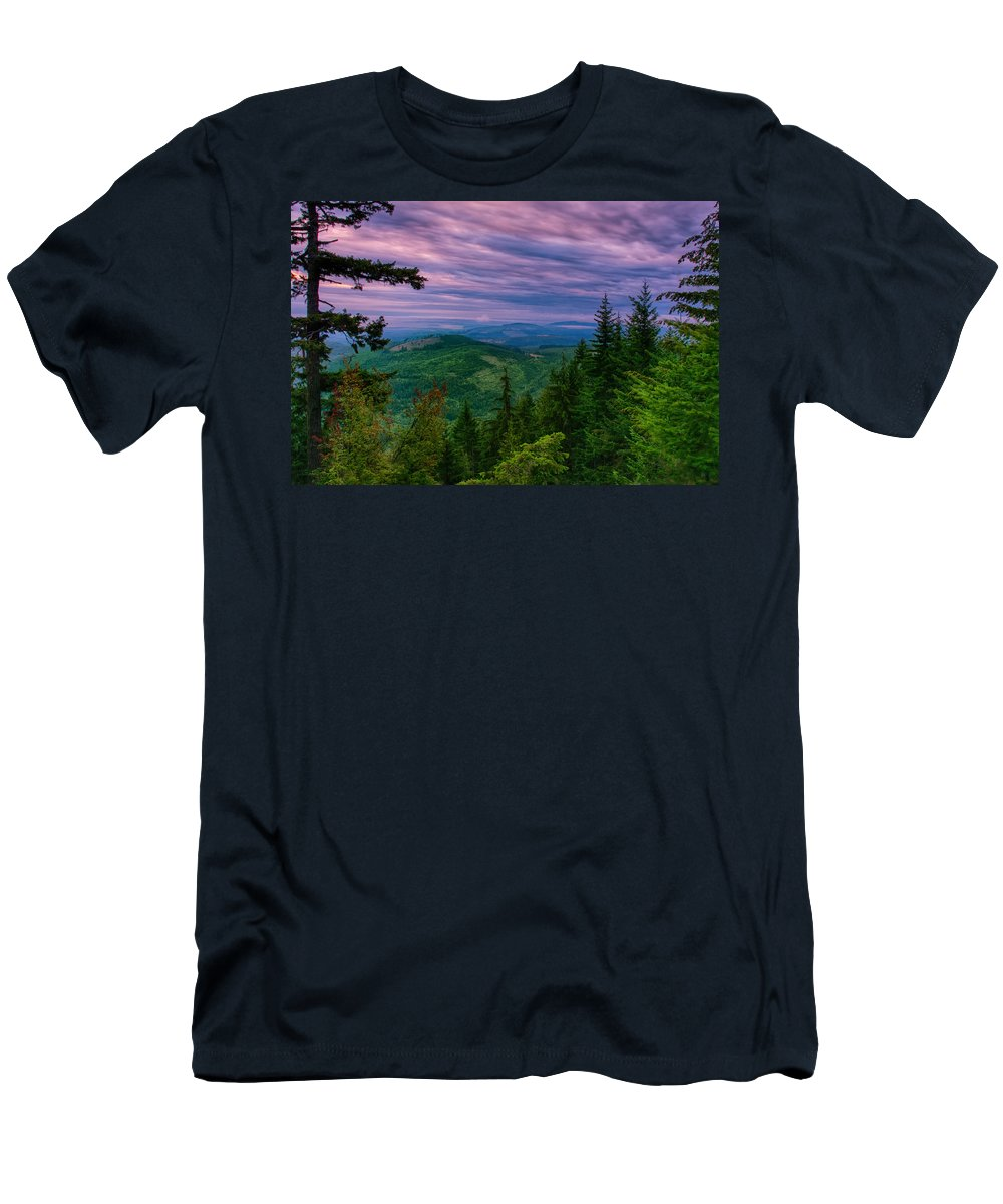 Olympic Men's T-Shirt (Athletic Fit) featuring the photograph The Beautiful Olympic Mountains At Dawn - Olympic National Park, Washington by Mitch Spence