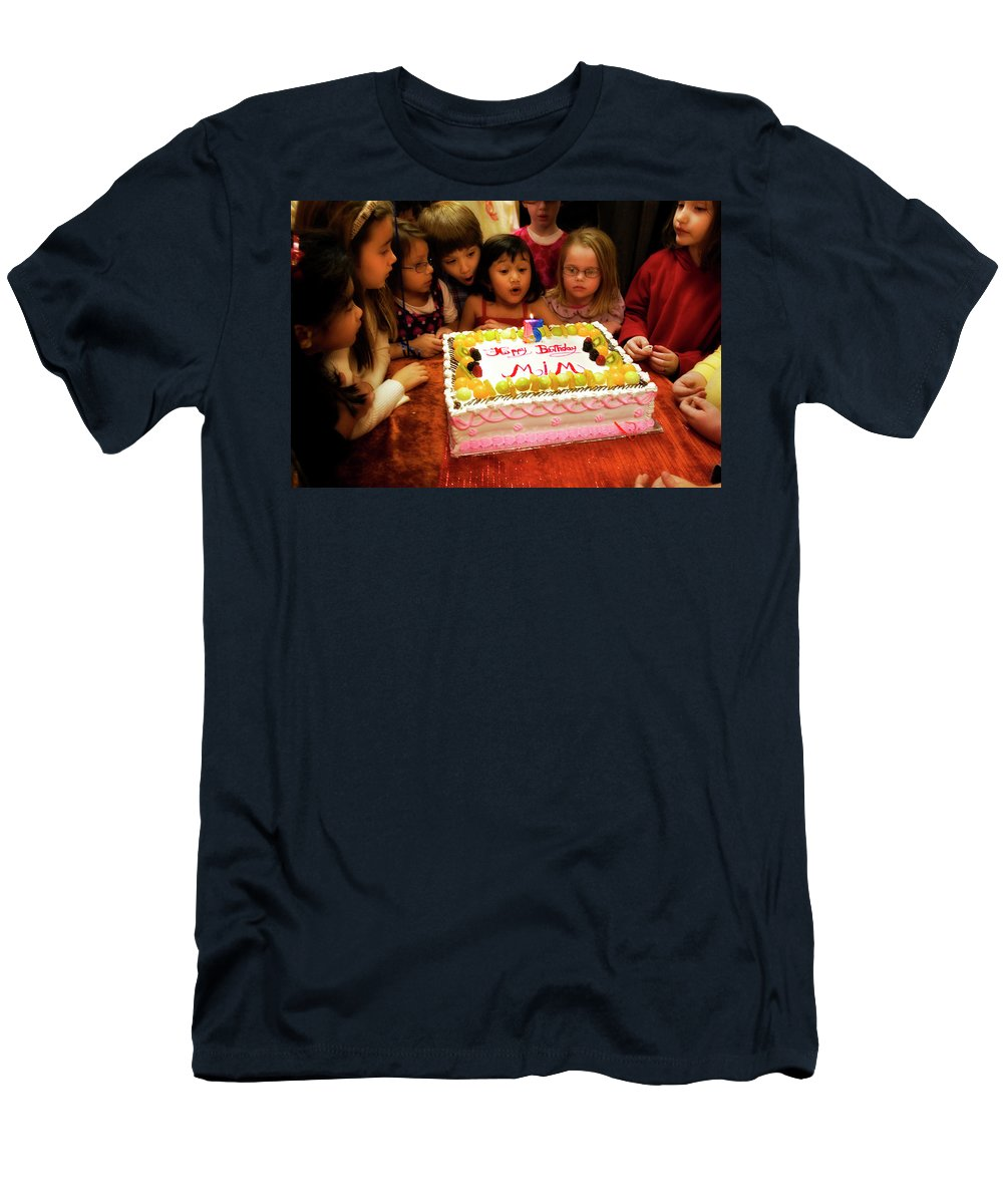 Birthday Men's T-Shirt (Athletic Fit) featuring the photograph The Blowout Brigade by Madeline Ellis