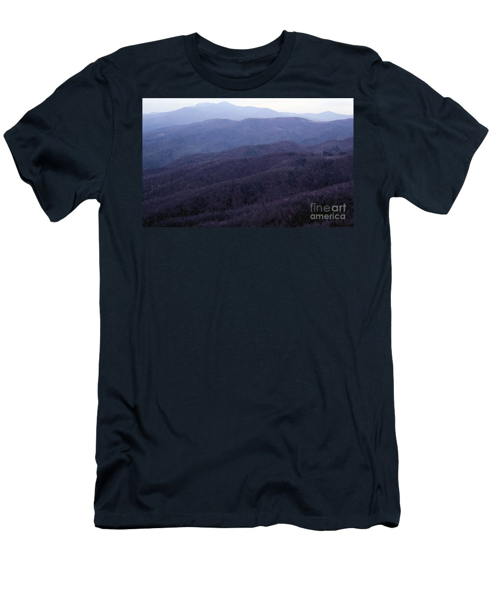 Mountains Men's T-Shirt (Athletic Fit) featuring the photograph The Blue Ridge by Richard Rizzo