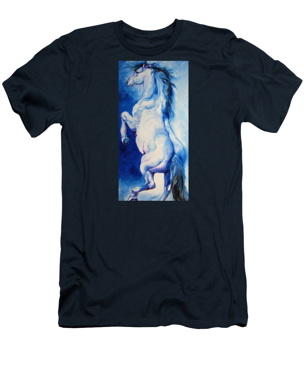 Horse Men's T-Shirt (Athletic Fit) featuring the painting The Blue Roan by Marcia Baldwin