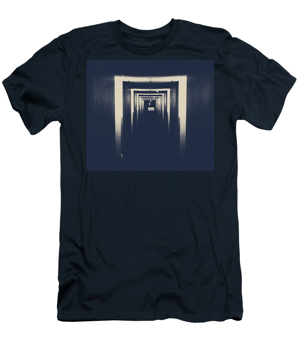 Rural Decay Men's T-Shirt (Athletic Fit) featuring the photograph The Closed Doors by The Artist Project