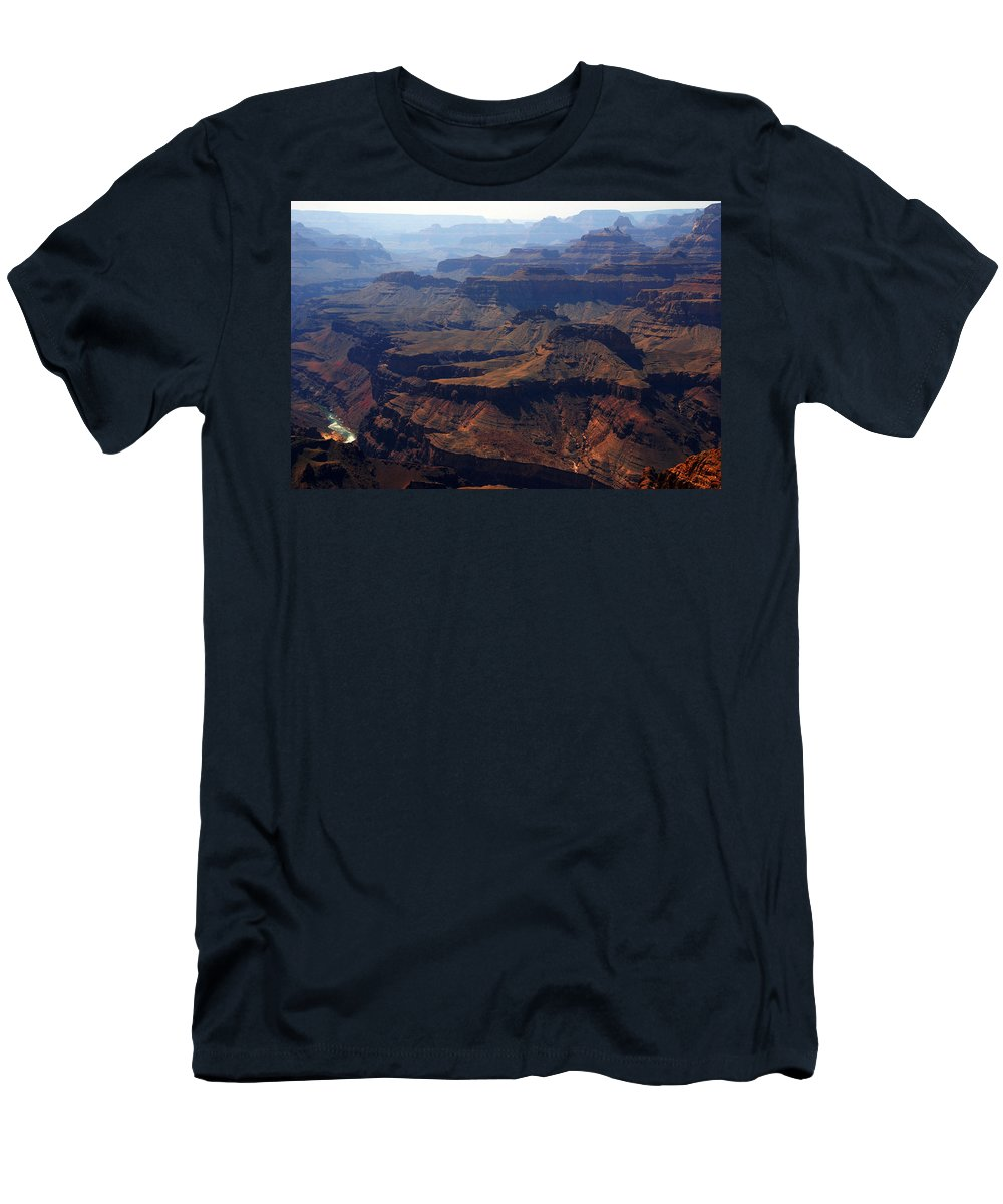 Colorado River Men's T-Shirt (Athletic Fit) featuring the photograph The Colorado River by Susanne Van Hulst