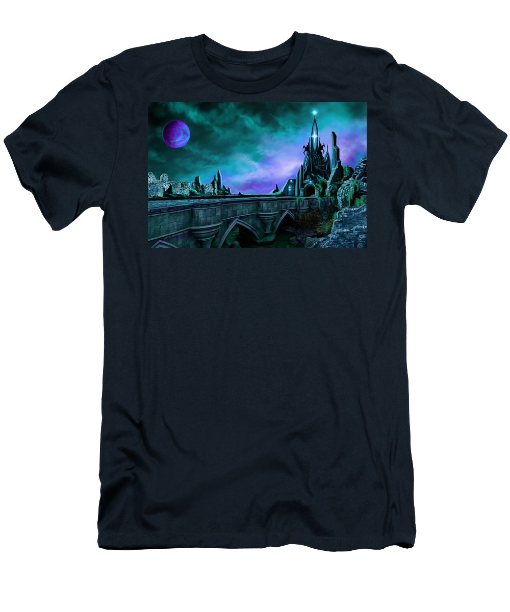 Copyright 2015 - James Christopher Hill T-Shirt featuring the painting The Crystal Palace - Nightwish by James Christopher Hill