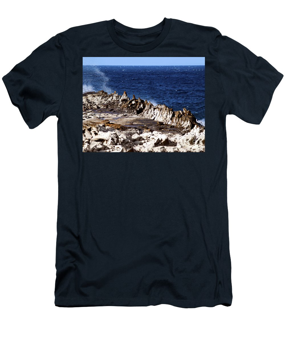 Fine Art Photography Men's T-Shirt (Athletic Fit) featuring the photograph The Dragons Teeth II by Patricia Griffin Brett