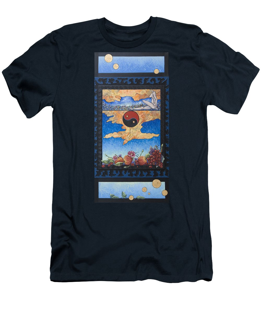 Karma Men's T-Shirt (Athletic Fit) featuring the painting The Dream by Judy Henninger