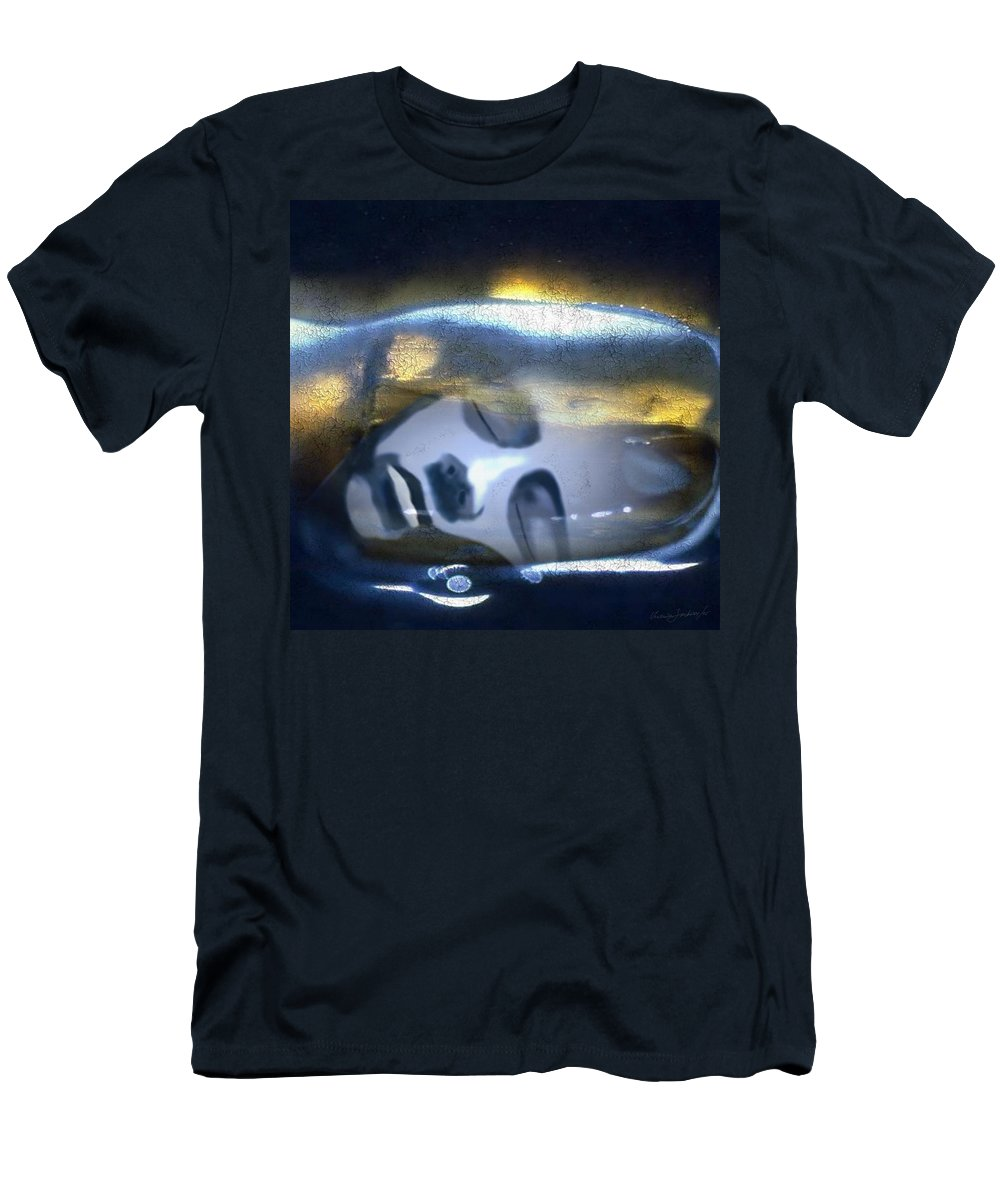Dream Sky Universe Methaphysics Aura Afterlife Men's T-Shirt (Athletic Fit) featuring the digital art The Dream by Veronica Jackson