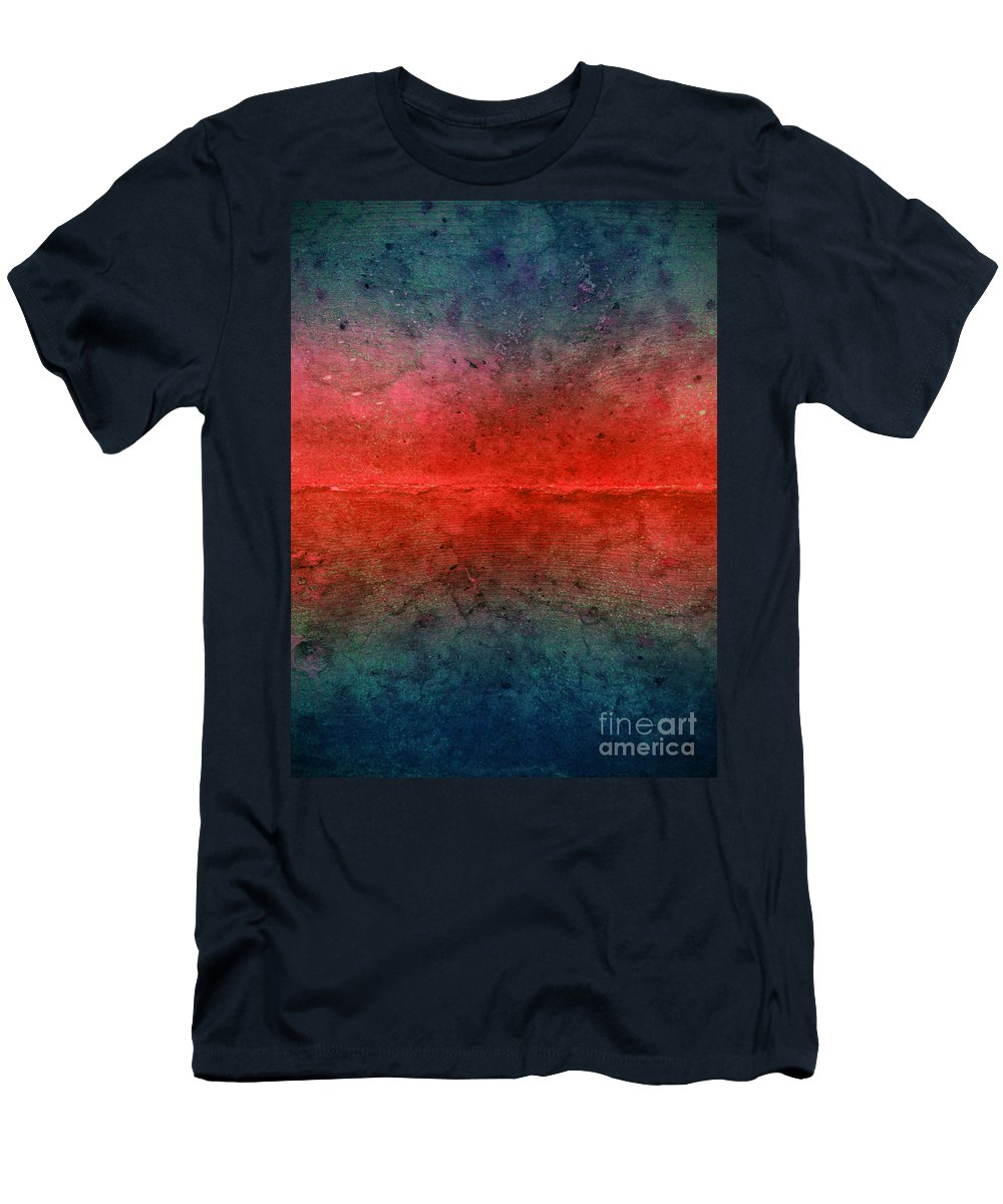 Texture Men's T-Shirt (Athletic Fit) featuring the photograph The Fire Inside by Tara Turner