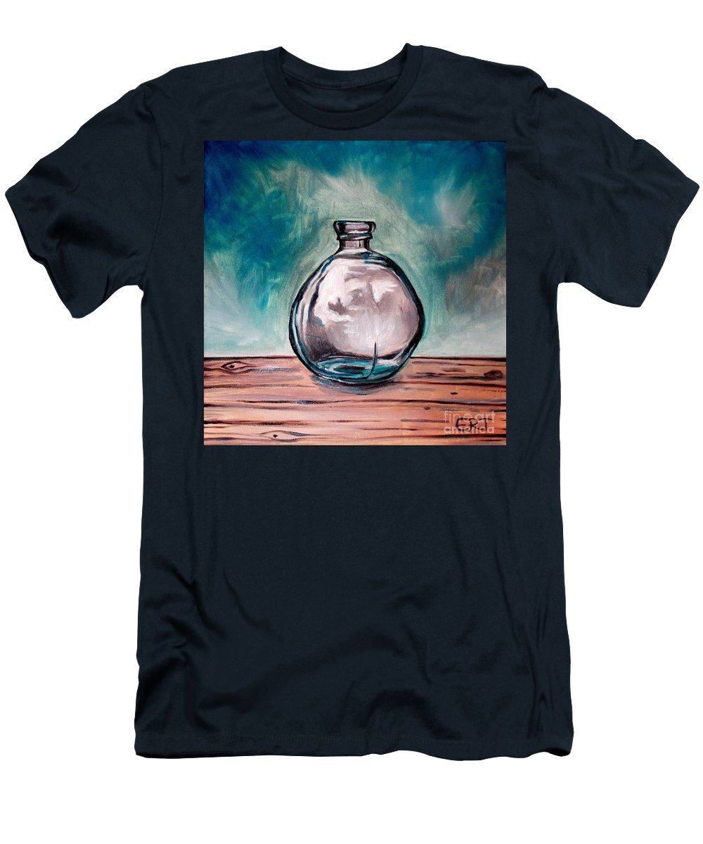 Glass Men's T-Shirt (Athletic Fit) featuring the painting The Glass Bottle by Elizabeth Robinette Tyndall