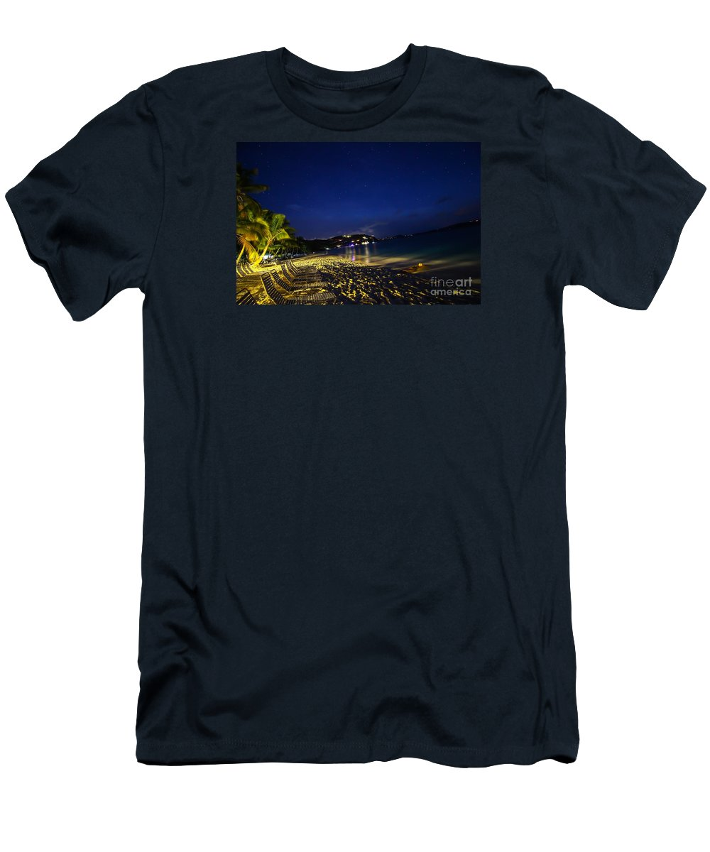 Men's T-Shirt (Athletic Fit) featuring the pyrography The Jost At Night by Leon Miller