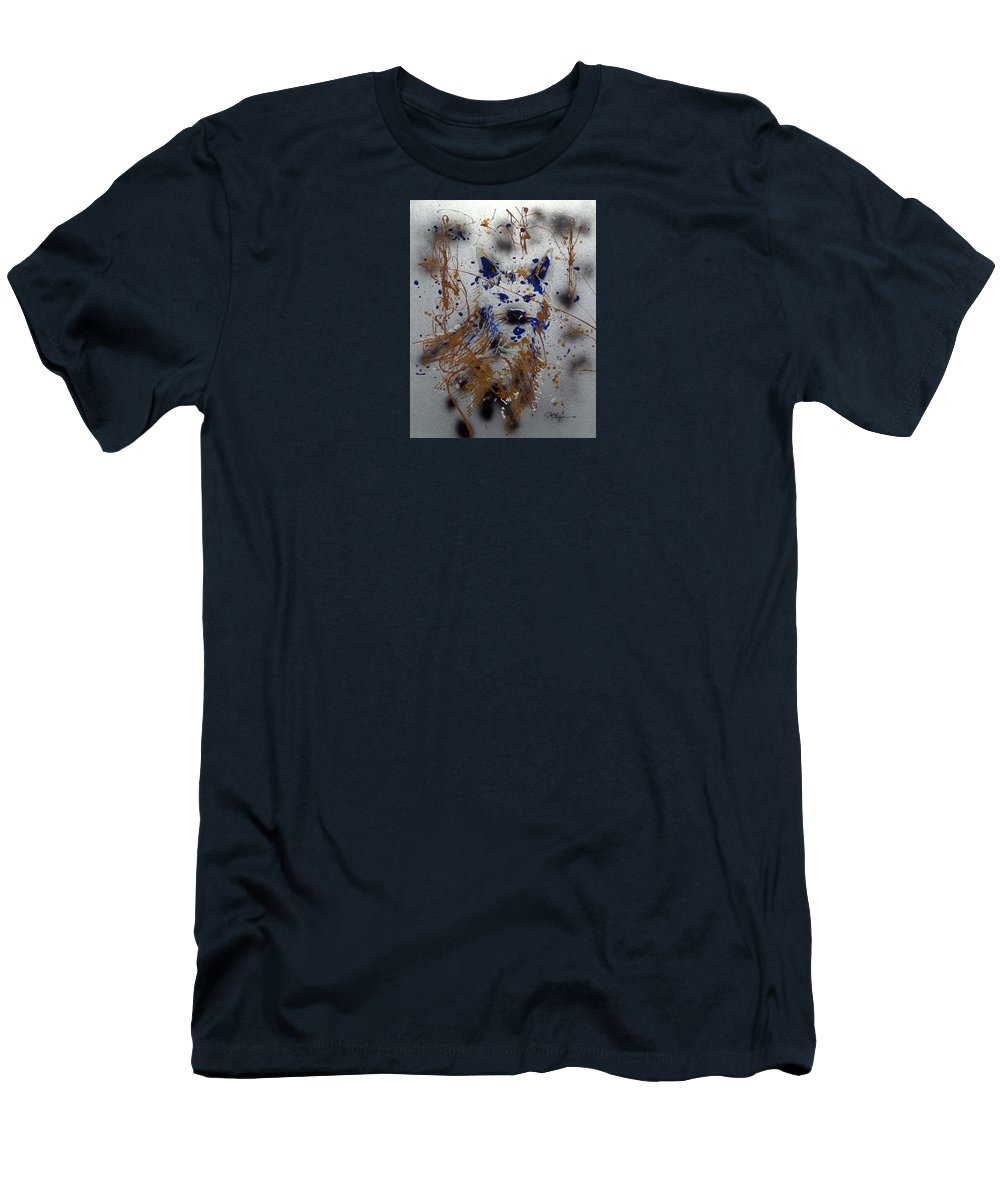 Impressionist Painting Men's T-Shirt (Athletic Fit) featuring the mixed media The Lone Wolf Canis Lupus by J R Seymour