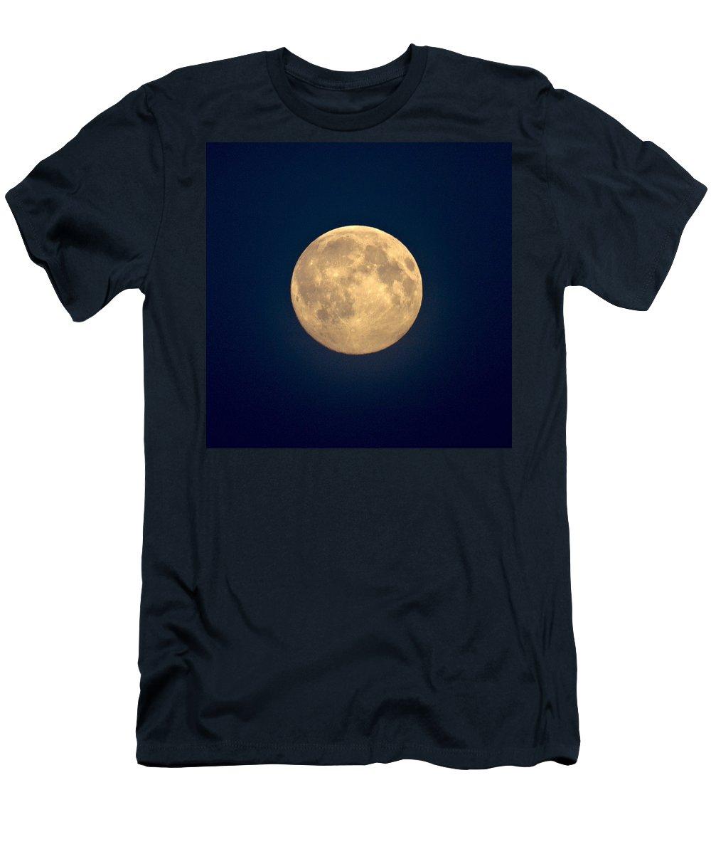Lehtokukka Men's T-Shirt (Athletic Fit) featuring the photograph The Moon 1 by Jouko Lehto