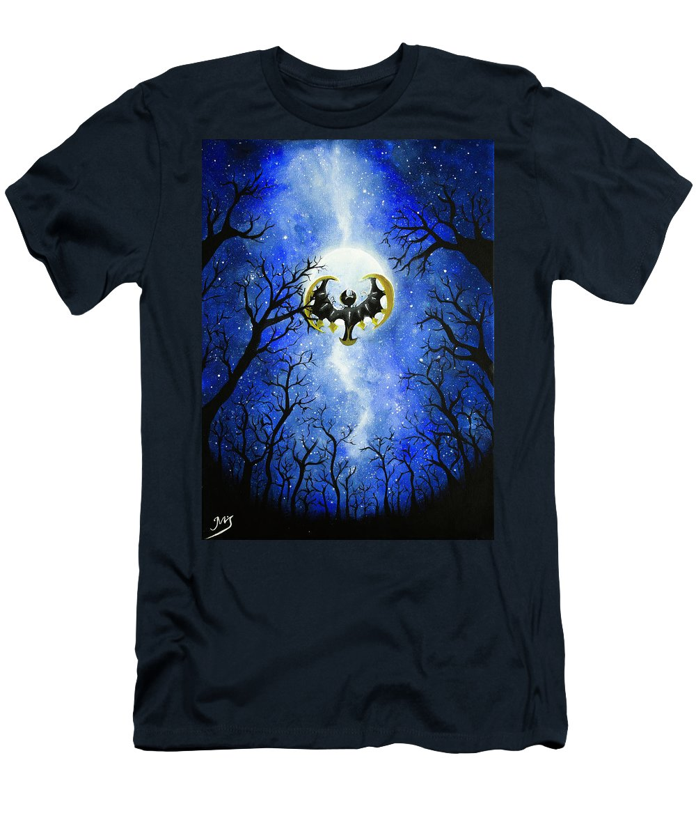 Men's T-Shirt (Athletic Fit) featuring the painting the moon of Lunala by Magda Swinya