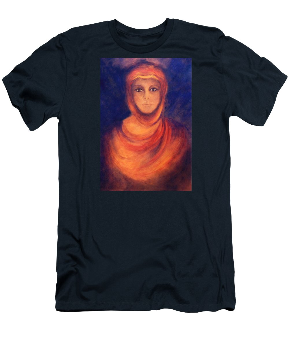 Woman Men's T-Shirt (Athletic Fit) featuring the painting The Oracle by Marina Petro