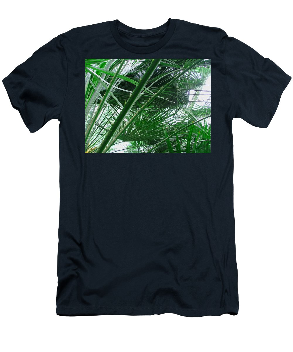 Palm Tree Men's T-Shirt (Athletic Fit) featuring the photograph The Palm House Kew England by Heather Lennox