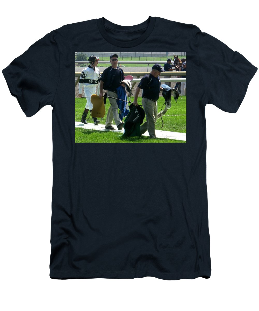 Jockey Men's T-Shirt (Athletic Fit) featuring the photograph The Parade by Ian MacDonald