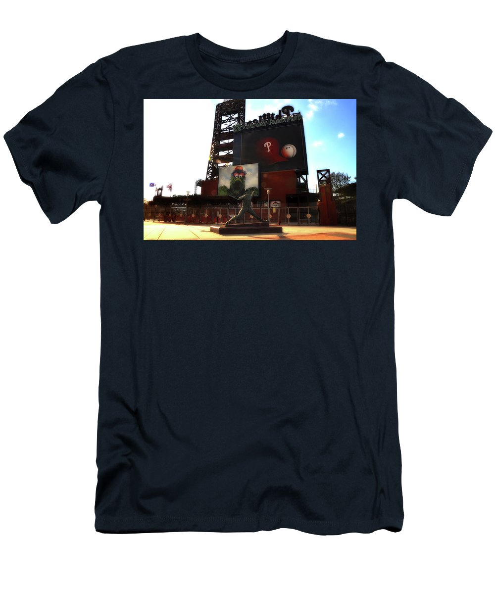 Sports Men's T-Shirt (Athletic Fit) featuring the photograph The Phillies - Steve Carlton by Bill Cannon