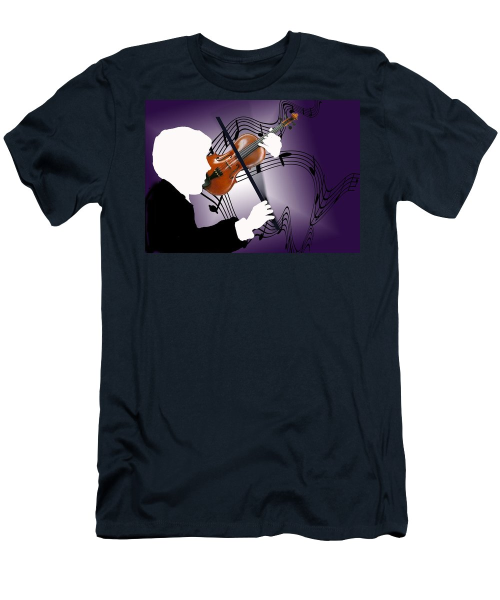 Violin Men's T-Shirt (Athletic Fit) featuring the digital art The Soloist by Steve Karol