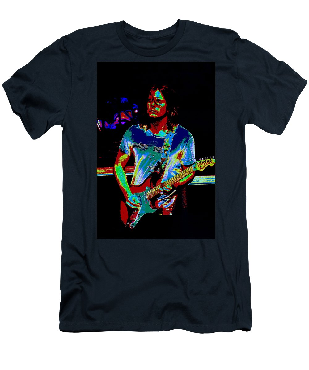 Lukas Nelson Men's T-Shirt (Athletic Fit) featuring the photograph The Sound Of Psychedelic Memories by Ben Upham