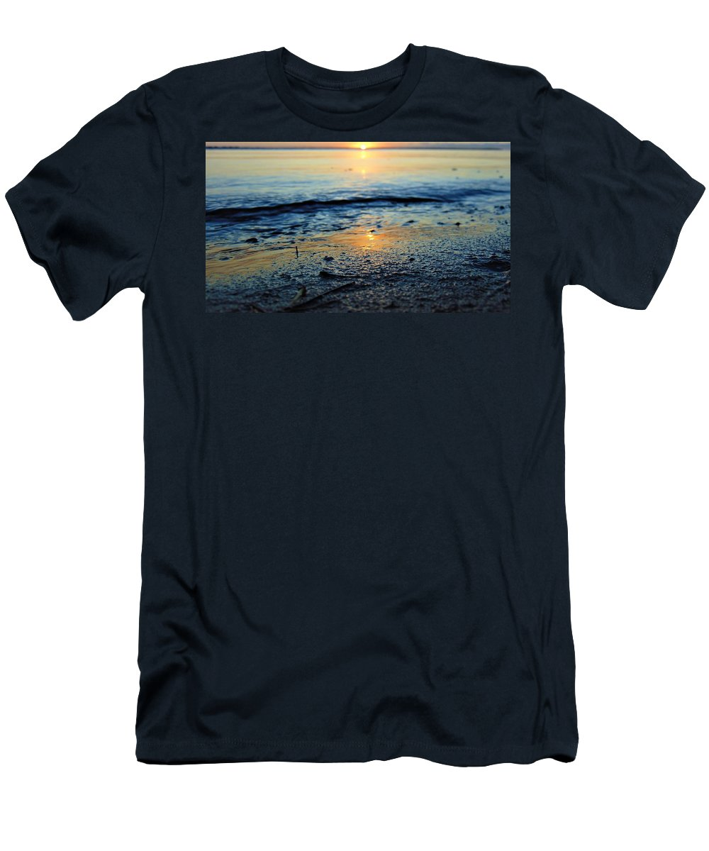 Nc Men's T-Shirt (Athletic Fit) featuring the photograph The Sound's Edge by Sean Paul Ballentine