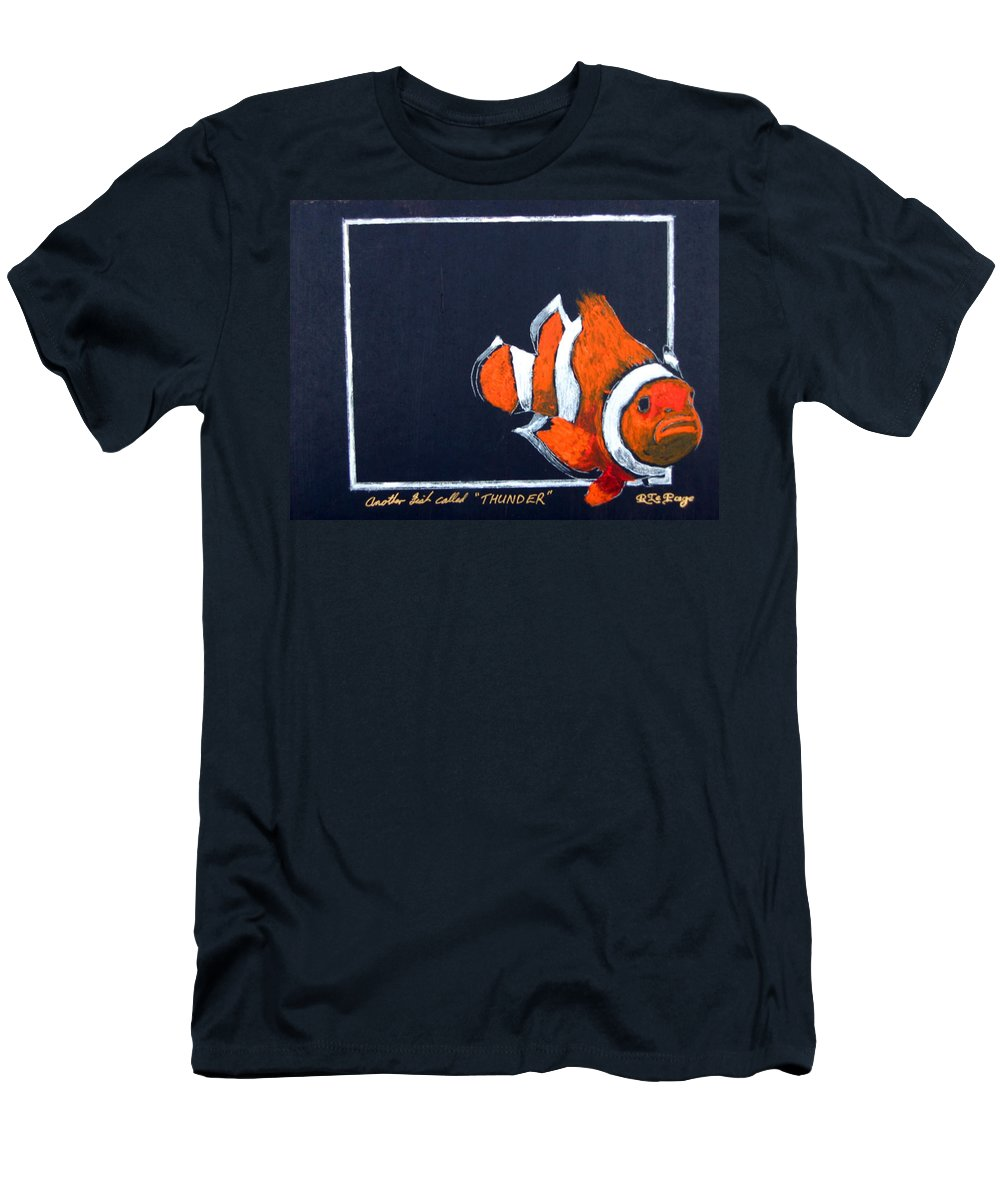 Fish Men's T-Shirt (Athletic Fit) featuring the painting Thunder by Richard Le Page
