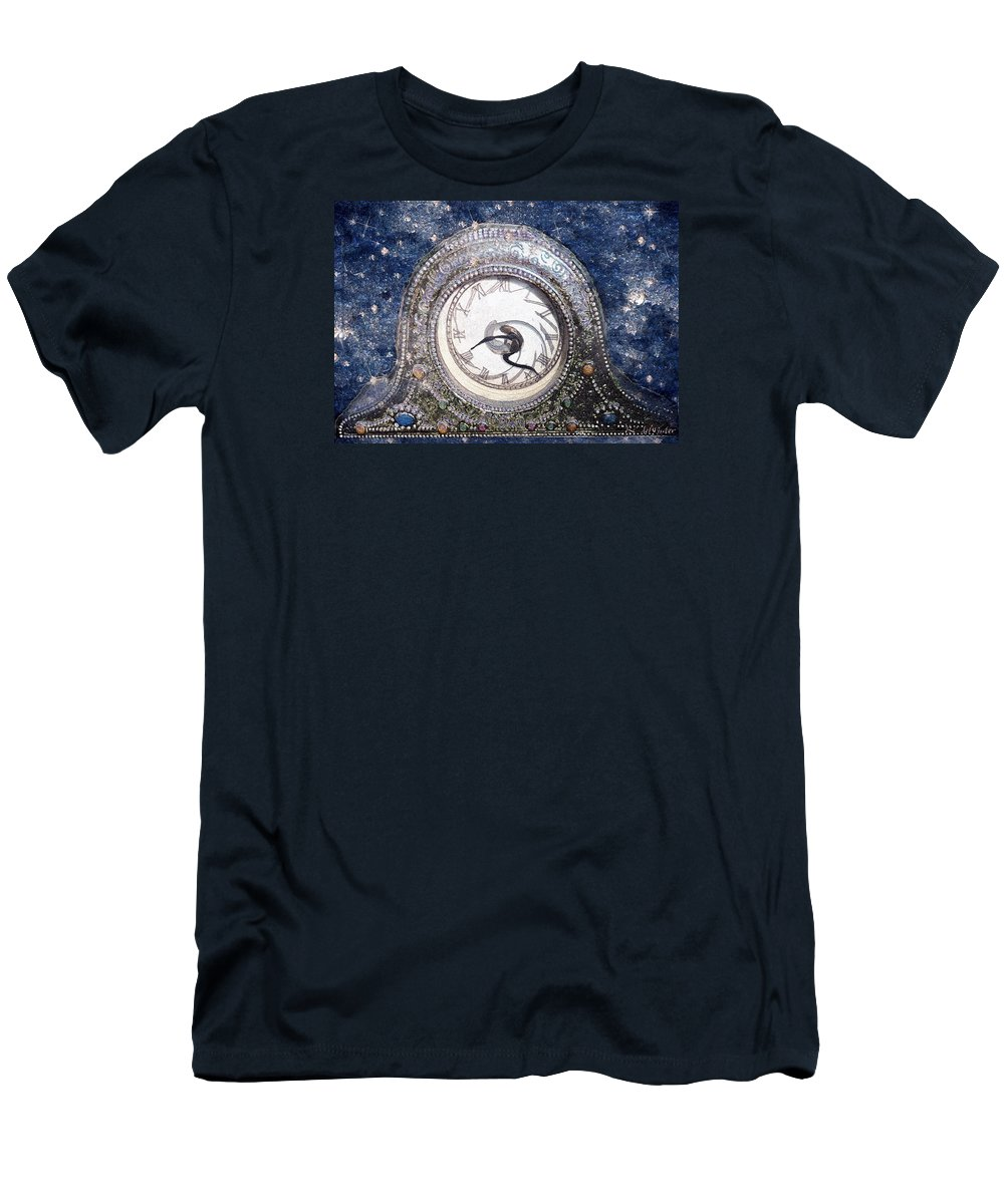 Clock Men's T-Shirt (Athletic Fit) featuring the painting Time Warp by RC DeWinter