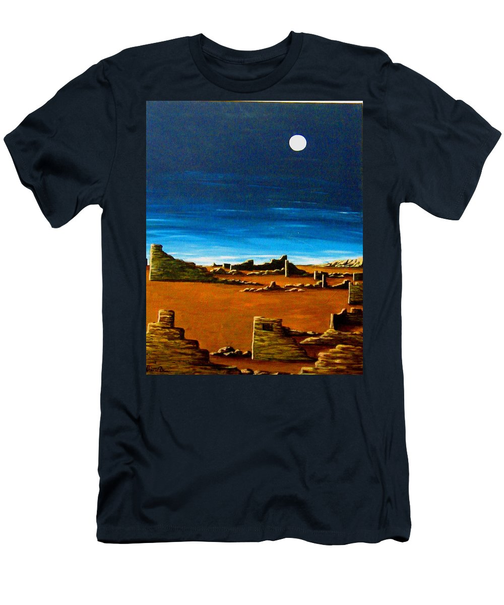 Anasazi Men's T-Shirt (Athletic Fit) featuring the painting Timeless by Diana Dearen