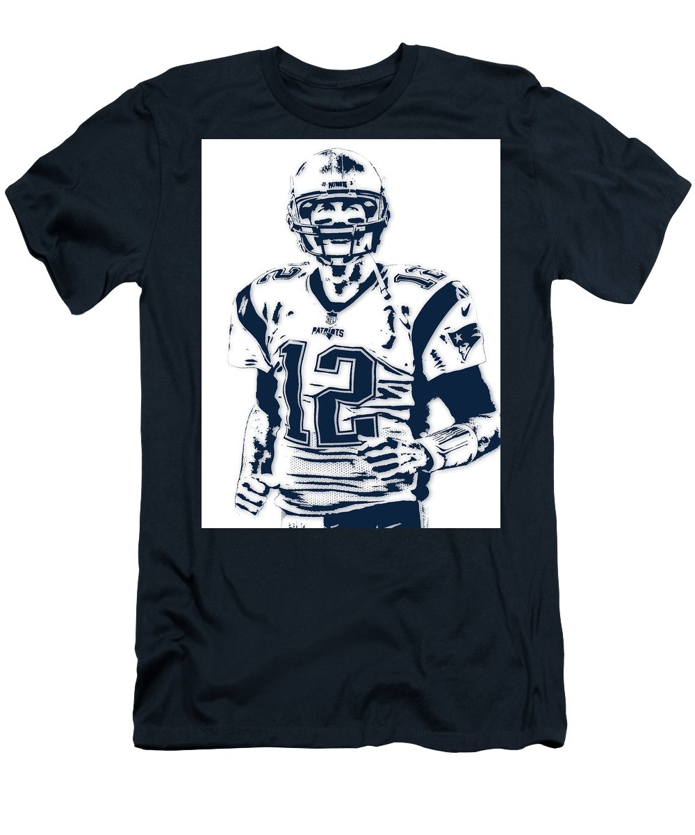 Tom Brady Men s T-Shirt (Athletic Fit) featuring the mixed media Tom Brady 5b1fc399e146