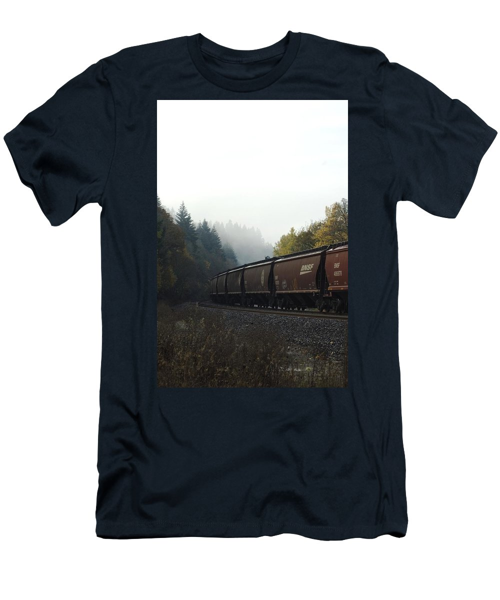 Train Men's T-Shirt (Athletic Fit) featuring the photograph Train 2 by Sara Stevenson