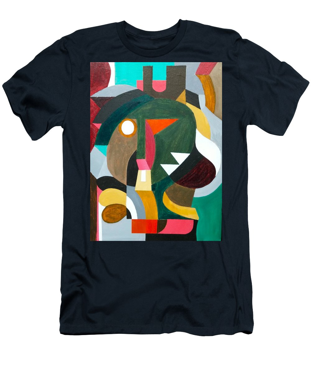 Mask Men's T-Shirt (Athletic Fit) featuring the painting Transfiguration by Domingo Carrasco