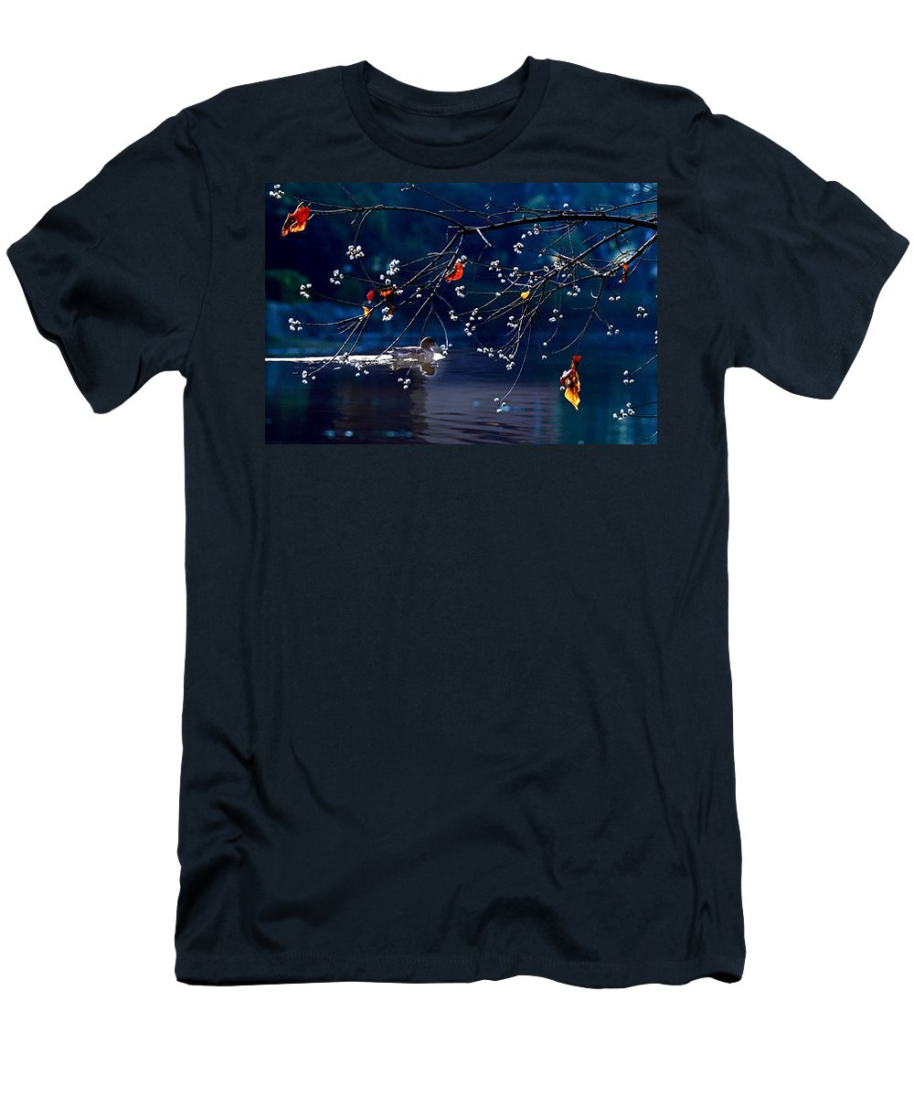 Water Men's T-Shirt (Athletic Fit) featuring the photograph Trees In Japan 5 by George Cabig