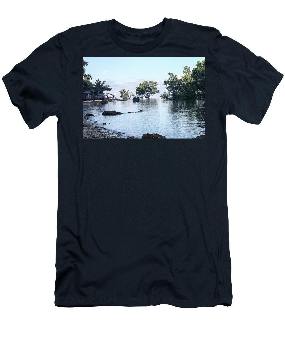 Tropical Paradise Men's T-Shirt (Athletic Fit) featuring the photograph Tropical Paradise by Ephraim Patey