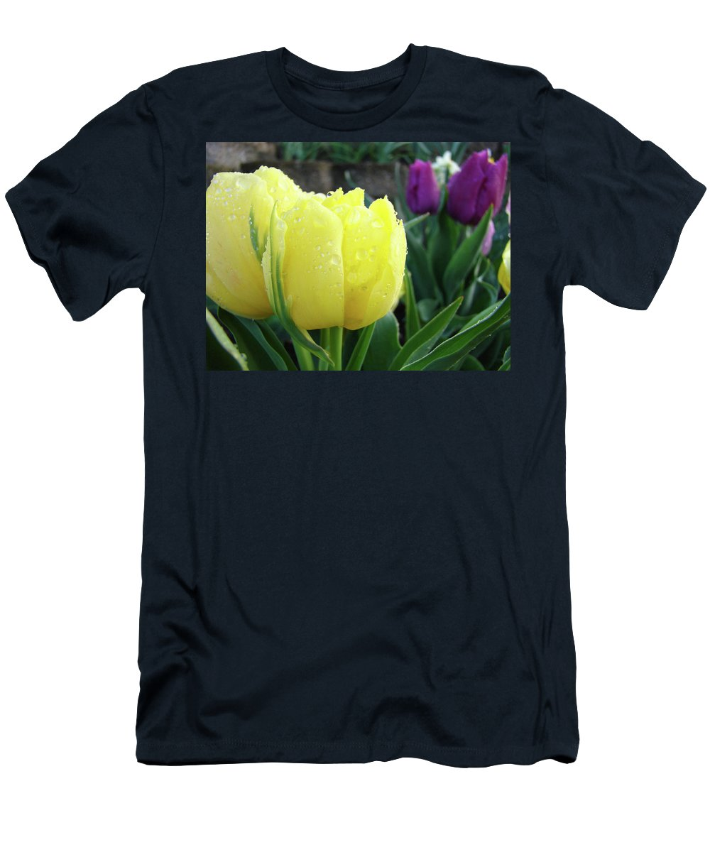 �tulips Artwork� Men's T-Shirt (Athletic Fit) featuring the photograph Tulip Flowers Artwork Tulips Art Prints 10 Floral Art Gardens Baslee Troutman by Baslee Troutman