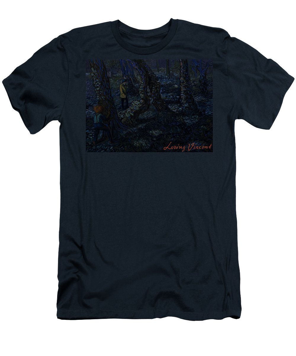 Men's T-Shirt (Athletic Fit) featuring the painting Undergrowth by Yanis Alexakis