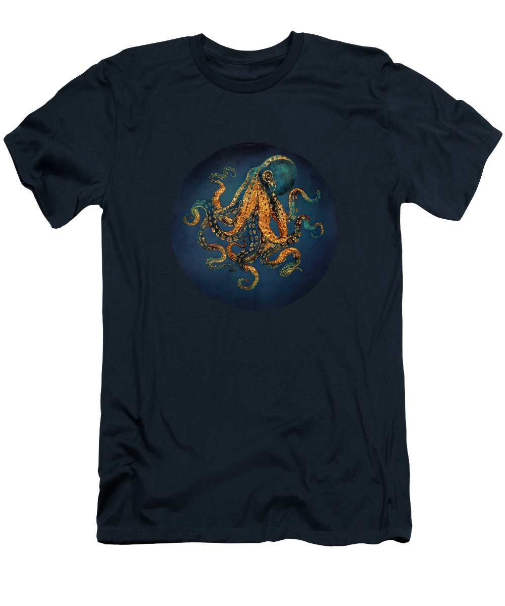 Water Men's T-Shirt (Athletic Fit) featuring the digital art Underwater Dream Iv by Spacefrog Designs
