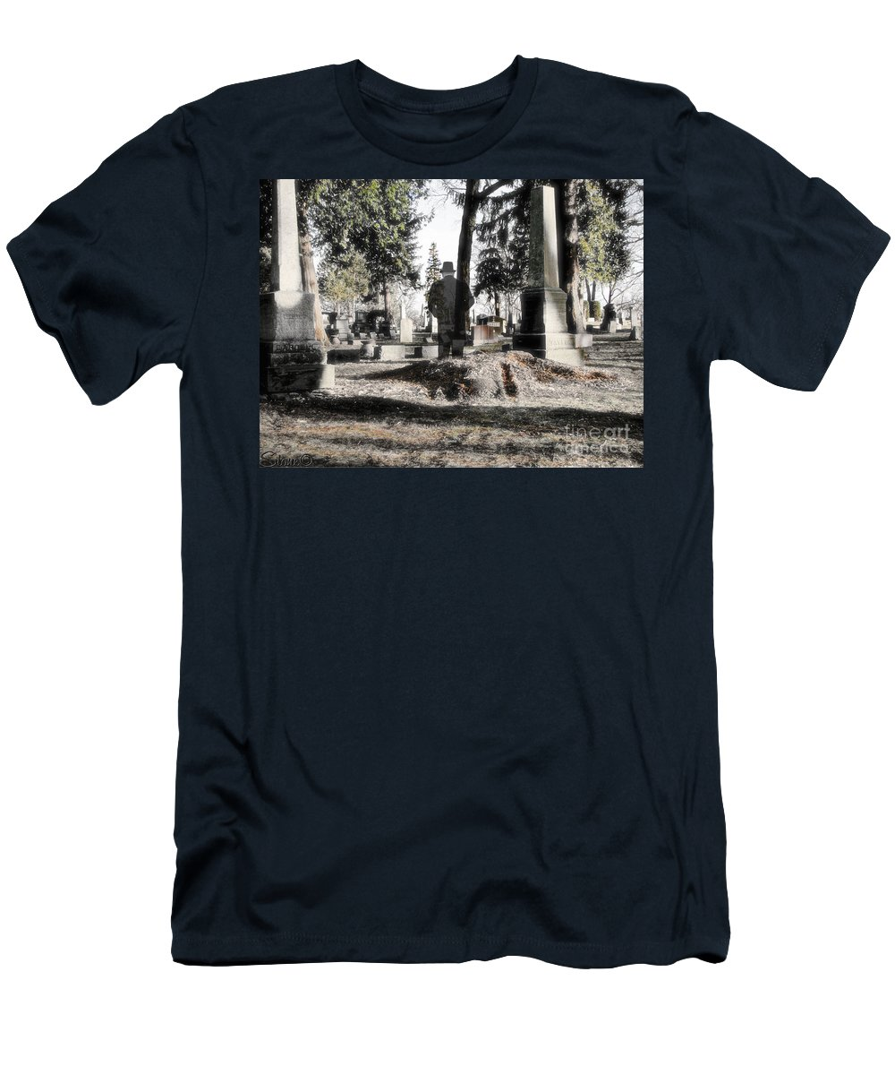 Spirit Men's T-Shirt (Athletic Fit) featuring the photograph Unwilling To Go by September Stone