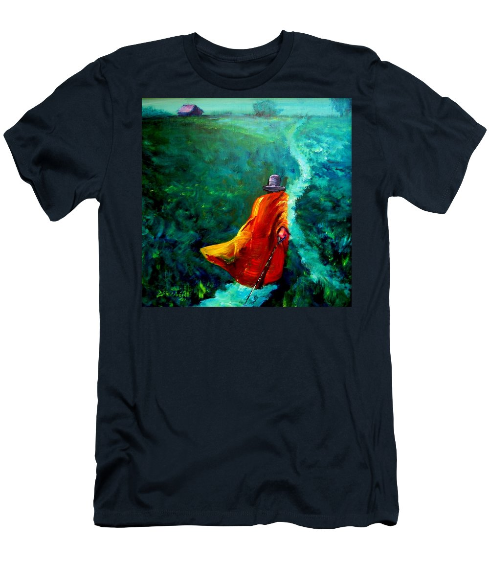 Expressionist Men's T-Shirt (Athletic Fit) featuring the painting Up That Hill by Jason Reinhardt