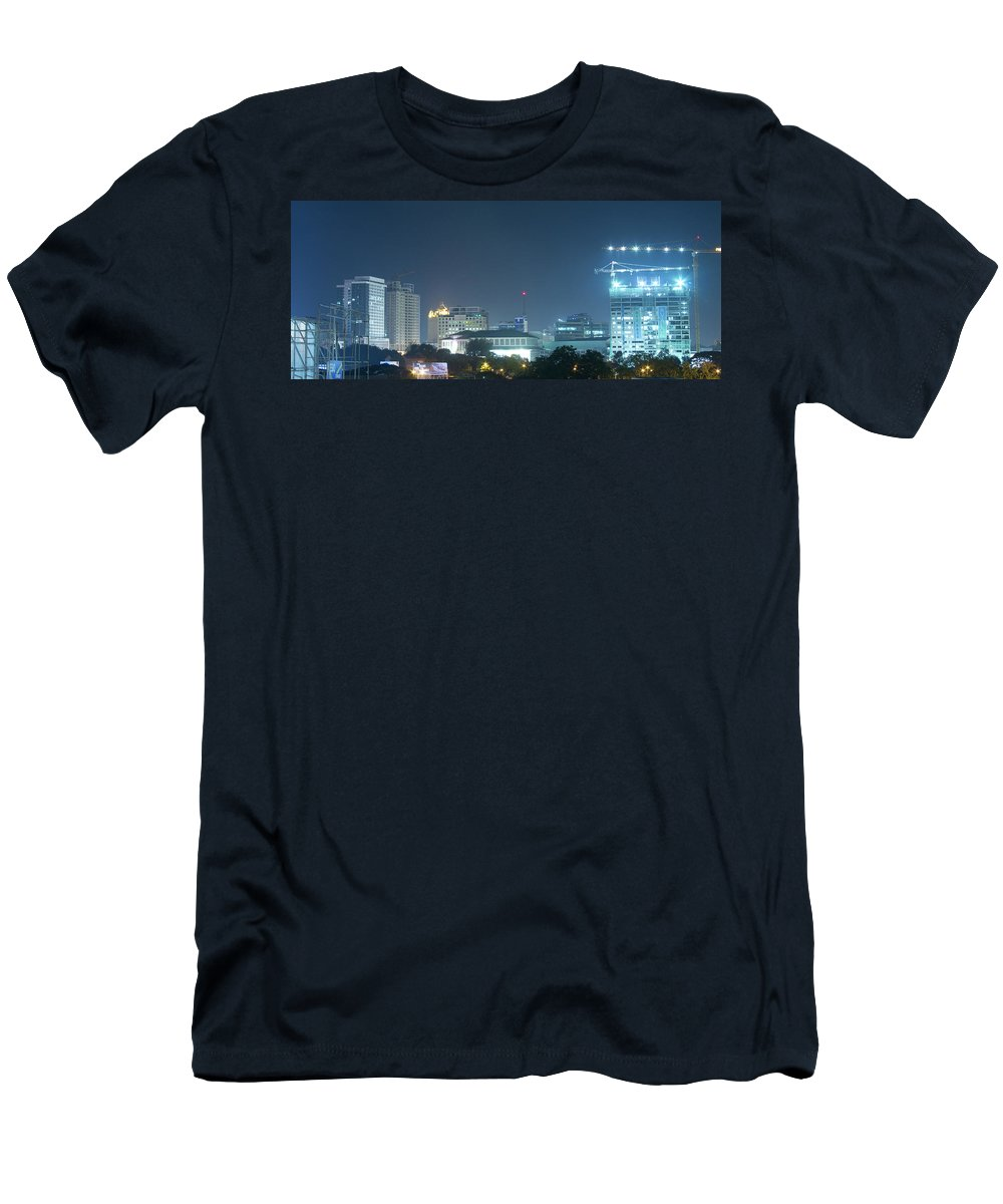 Insogna Men's T-Shirt (Athletic Fit) featuring the photograph Up Town Cebu City Lights by James BO Insogna